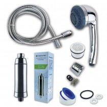 Complete Shower Water Filter Kit by Finerfilters - Multi-Stage Filtration for Extra Protection from Harsh Chemicals