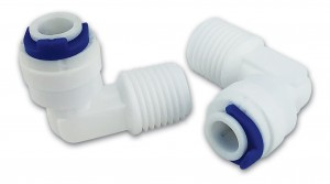 """Finerfilters 1/4"""" Male x 1/4"""" Push Fit Plastic Elbow Fittings (Pack of 2 Fittings)"""