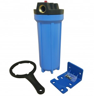 "10"" Standard Filter Blue Housing with 3/4"" ports and Pressure Reducing Valve"