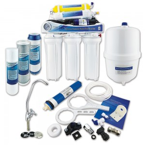 Finerfilters 6 Stage Domestic Reverse Osmosis Under Sink System with Diaphragm Booster Pump