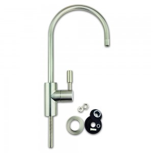 "Finerfilters Deluxe Euro-luxury RO Tap 1/4""- Brushed Nickel Finish. Fits all water filter & RO systems."