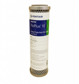 "Pentek FLOPLUS 10"" 0.5 Micron Carbon Block Water Filter"