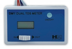 "HM Digital DM-1 Inline Dual TDS Meter with ¼"" Connections from Finerfilters"
