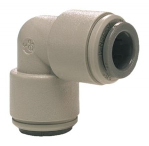 John Guest PI0308S Equal Elbow 1/4 Push Fit Pipe Connector - Speed Fit