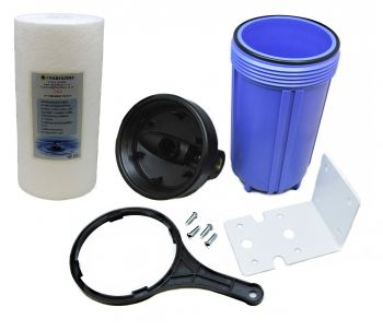 "10"" Jumbo Housing and Sediment Pre Filter Water Filter System 3/4"" BSP by Finerfilters"