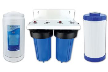 """Finerfilters No Salt / Salt Free Water Softener Alternative - Limescale Prevention Systems, Up to 99.6% Effectiveness, Prevents Limescale Build-up and Removes Existing Scale - 10"""" Double Jumbo System"""