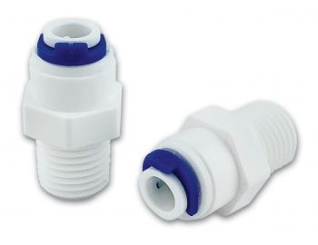 "Finerfilters 1/4"" Male x 1/4"" Push Fit Straight Fittings x 2"