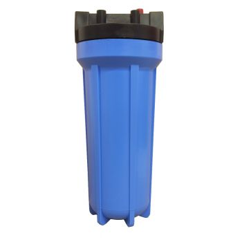 "10"" Standard Blue Water Filter Housing with 3/4"" Ports & Pressure Reducing Valve"