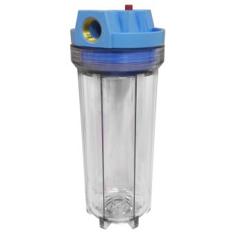"10"" Standard Clear Water Filter Housing with 3/4"" BSP Ports & Pressure Reducing Valve"