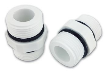 "Finerfilters 3/4"" x 3/4"" Male Threaded Hex Nipple Plastic Fittings (Pack of 2 Fittings)"