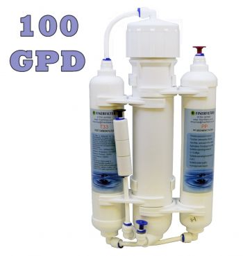 Finerfilters 3 Stage Compact Aquarium Reverse Osmosis Unit 100 GPD for Tropical, Marine & Discus Fish