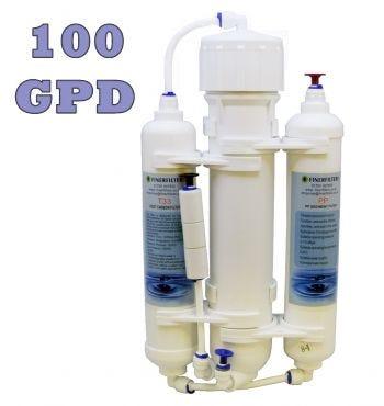 3 Stage Compact Aquarium Reverse Osmosis 100 GPD Unit for Tropical, Marine & Discus Fish