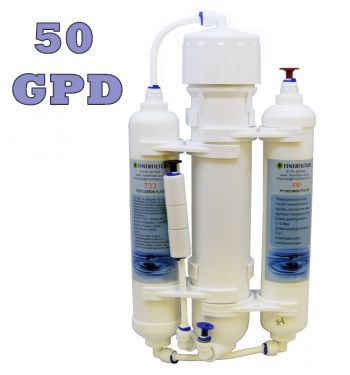 Finerfilters 3 Stage Compact Aquarium Reverse Osmosis Unit 50 GPD for Tropical, Marine & Discus Fish