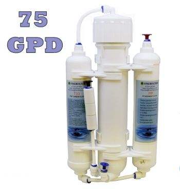 Finerfilters 3 Stage Compact Aquarium Reverse Osmosis Unit 75 GPD for Tropical, Marine & Discus Fish