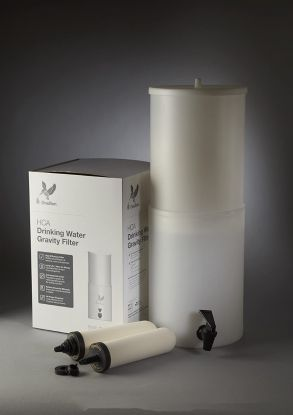 "British Berkefeld HCA2 Gravity Filter System W9361230 Complete With  2 x 7"" Super Sterasyl Water Filters Lightweight BPA Free Polyethylene"