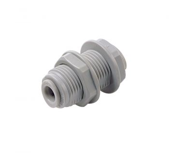 "Speed Fit Bulkhead Connector ¦ 1/4"" Push Fit ¦ DMFit ABU0404"