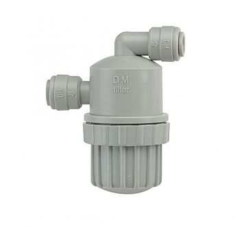 "In Line Water Filter Strainer ¦ 1/4"" Push Fit x 1/4"" Push Fit, 100 Mesh ¦ DMFit ADMF0404"