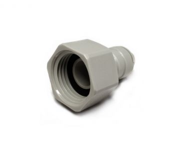 "Female BSP to Push Fit Tap Adapter ¦ 1/2"" BSP Flat End x 3/8"" Push Fit ¦ DMFit AFAB0607C"