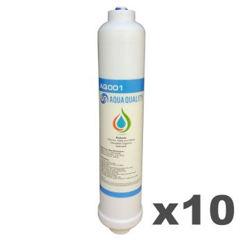 Pack of 10 Aqua Quality Under Sink Replacement Water Filters