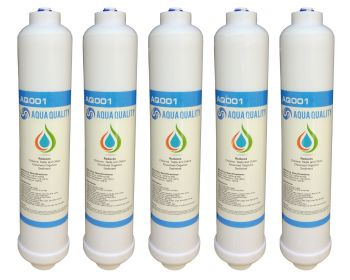 Aqua Quality Inline Fridge Water Filters Compatible With Samsung GE Daewoo LG Beko Bosch Hotpoint (5 Pack)