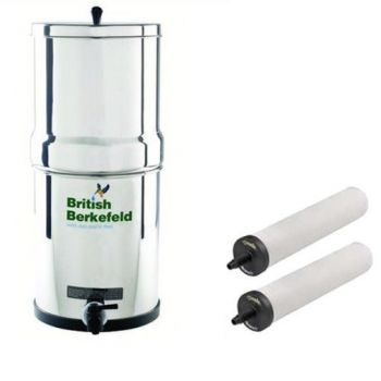 British Berkefeld SS2 Ultra Sterasyl Stainless Steel Gravity Filter System ¦ Model No. W9361151 ¦ Complete System with 2 x Water Filters