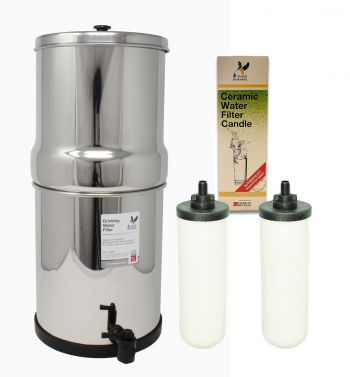 British Berkefeld SS2 Ultra Fluoride Stainless Steel Gravity Filter System ¦ Complete System with 2 x Water Filters