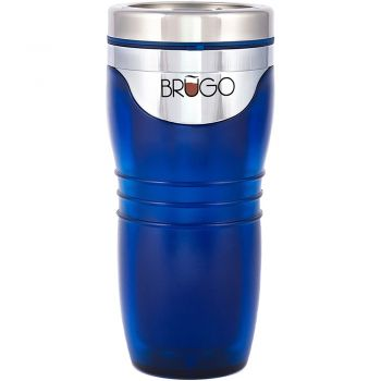 BruGo™ Leak Proof Insulated Travel Mug - Retro - Cobalt Blue