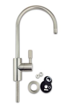 "Finerfilters Luxury Water Filter Tap - Brushed Nickel Finish. Fits all 1/4"" Water Filter & Reverse Osmosis Systems."