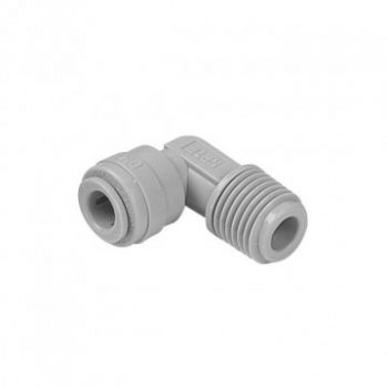 """Reducing Elbow Connector ¦ 3/8"""" Male NPTF x 1/4"""" Pushfit ¦ DMFit AME0406"""