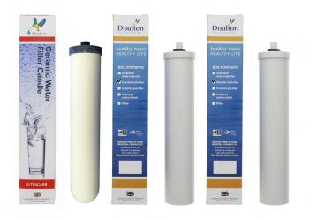 Doulton Duo Fluoride Reduction Replacement Water Filter Pack 1 x Ultracarb and 2 x Fluoride (6 Months Supply)
