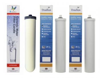 Doulton Duo Limescale Reduction Replacement Water Filter Pack 1 x Ultracarb and 2 x CleanSoft (6 Months Supply)