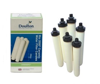 Doulton W9120145 RIO 2000 6 x Bespoke Sterasyl Ceramic Drinking Water Filter Candles 8 inch for Big Blue Housing