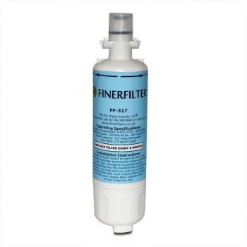 Finerfilters FF-317 Fridge Water Filter Compatible with LG LT700P, ADQ36006101