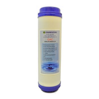 "GAC Water Filter Cartridge ¦ 10"" x 2.5"" ¦ Granular Activated Carbon Filter Cartridge for Drinking Water Systems"