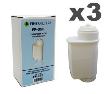 Finerfilters FF-358 Compatible Water Filter To Fit Brita Intenza Coffee Makers (3 pack)