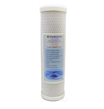 "Carbon Block Water Filter Cartridge ¦ 10"" x 2.5"" - 5 Micron ¦ Coconut Carbon Filter Cartridge for Drinking Water Systems"