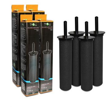 FilterLogic FL-296-10 Carbon Rod Water Filter For Wickes Pureflo Filter Taps (4 Pack)