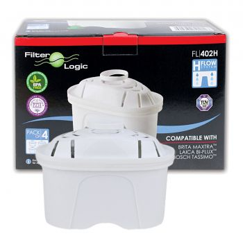 FL-402H Cartridges Compatible with Brita Maxtra Jug Water Filters¦ Pack of 4