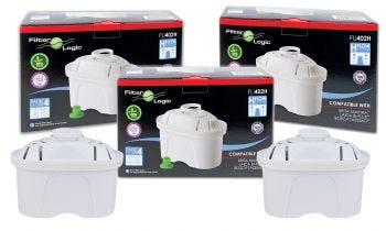 12 x FilterLogic FL-402H Water Filter Cartridge Compatible with Brita Maxtra™