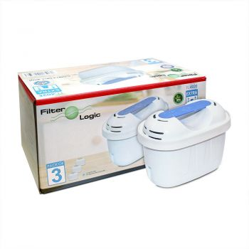 FilterLogic FL-402-E (Extra) Pack of 3 Filters to Fit Brita Maxtra+, Bosch Tassimo & MWT MG