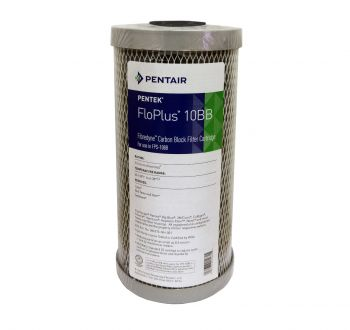 "Pentek FLOPLUS 10"" Jumbo 0.5 Micron Carbon Block Water Filter"