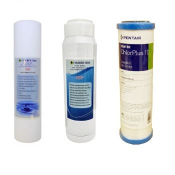 """Premium 10"""" HMA Heavy Metal and Chloramine Reduction Water Filter Replacement Pack"""