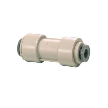 "Reducing Straight Connector ¦ 3/8"" Pushfit x 5/16"" Pushfit ¦ John Guest - PI201210S"