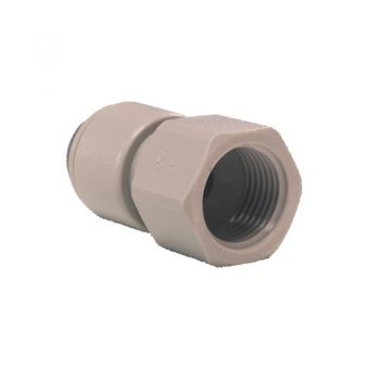 "John Guest PI450822S ¦ 1/4"" NPTF Female Thread x 1/4"" Push Fit ¦ Tap Adapter"