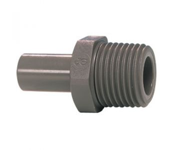 "John Guest PI050801S ¦ 1/8"" BSPT Male x 1/4"" Push Fit Stem Adapter"