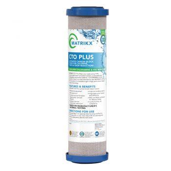 "Matrikx CTO Plus Chloramine Reduction Catalytic Carbon Block Water Filter ¦ 10"" x 2.5"" - 1 Micron ¦ Model No. 01-250-10"