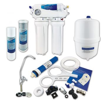4 Stage Domestic Reverse Osmosis System ¦ Under Sink RO System with Fluoride Removal by Finerfilters (Up to 50 GPD Output)