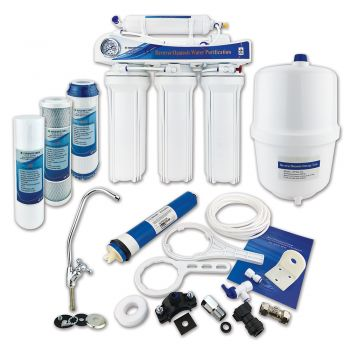 Finerfilters 5 Stage Domestic Under Sink Reverse Osmosis System With Fluoride Removal (50 GPD)