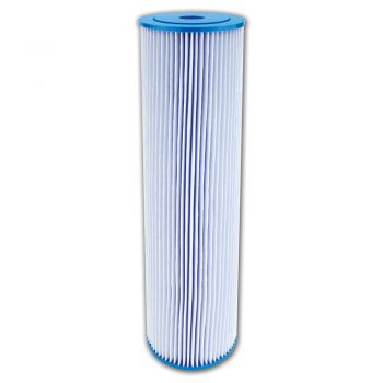 "Pleated Sediment Water Filter ¦ 20"" x 4.5"" - 5 Micron ¦ Washable Filter to Extend Lifespan, Fits 20"" Jumbo Big Blue Housings"