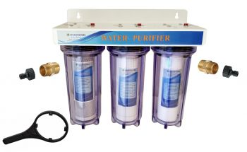 "3 Stage 10"" HMA Heavy Metal Reduction, Window Cleaning Water Filter System with Hozelock type fittings"